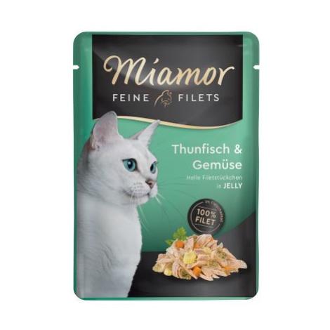 Miamor Feine Filets v želé 24 x 100 g - tuňák v krabím želé
