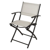 Zahradní židle skládací krémová