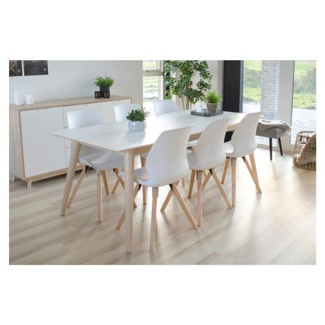 Norddan Roztahovací stůl Ronald 195-285, přírodní / bílý