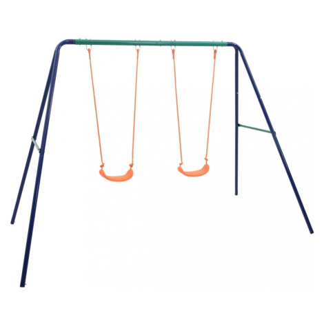Dětská sada houpaček modrá / oranžová / zelená Dekorhome vidaXL
