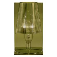 Kartell Kartell Take designová stolní lampa olivově zelená