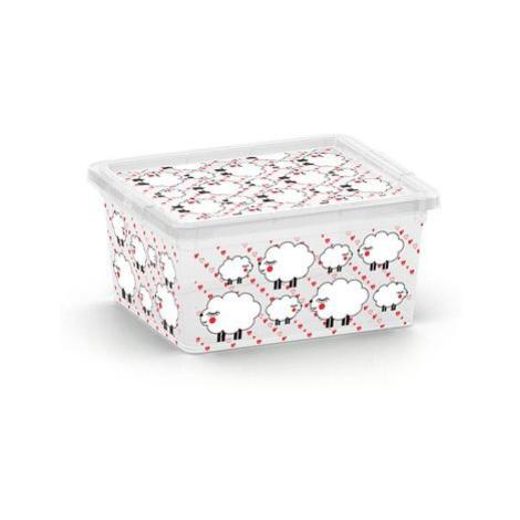 KIS C ANIMAL 57154 Plastový úložný box - XXS - ovečky