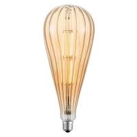 LEUCHTEN DIRECT LED Filament, vintage, jantar, E27, průměr 12,5cm 3000K LD 08471