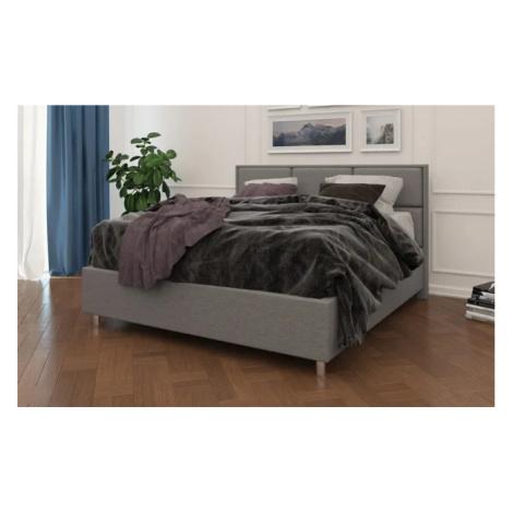 Čalouněná postel Aurora Frame Lift 160x200 cm v barvě Tetra Graphite Enzio