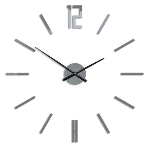 Mazur 3D nalepovací hodiny Carlo šedé