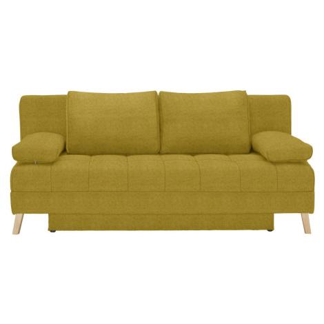 Cantus ROZKLÁDACÍ POHOVKA, textil, žlutá