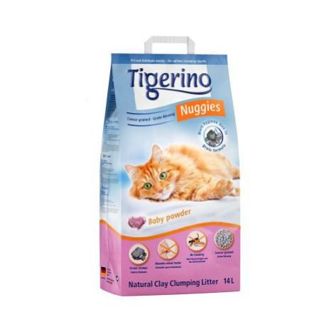 Kočkolit Tigerino Nuggies - Baby Powder (hrubozrnný) - Dvojité balení 2 x 14 l