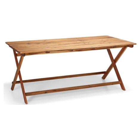 Zahradní stůl z akáciového dřeva Le Bonom Natur, 88 x 114 cm