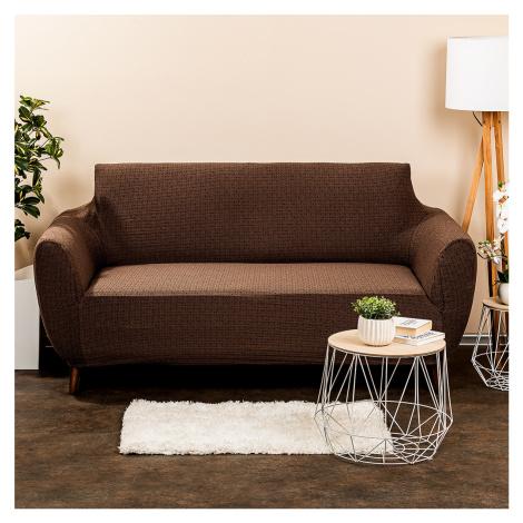 4Home Multielastický potah na sedačku Comfort Plus hnědá, 140 - 180 cm