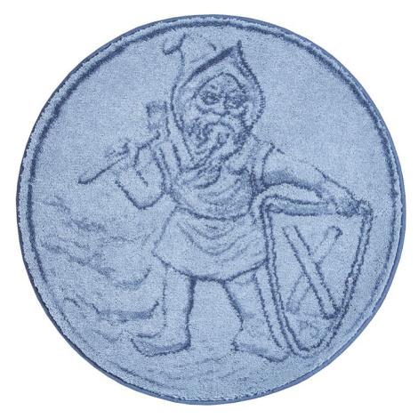 PERMONÍK - Kruhová předložka ø 80 cm, šedá Grund