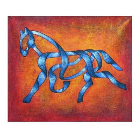 Obraz - Kůň ze stuhy FOR LIVING