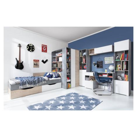 Meblar Dětský pokoj SIGMA 1 Meblar Barva: bily-lux-dub-beton