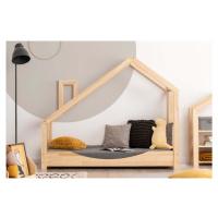 Domečková postel z borovicového dřeva Adeko Luna Elma, 70 x 170 cm