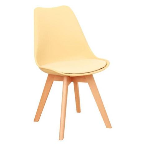 Židle, capuccino vanilková / buk, BALI 2 NEW Tempo Kondela