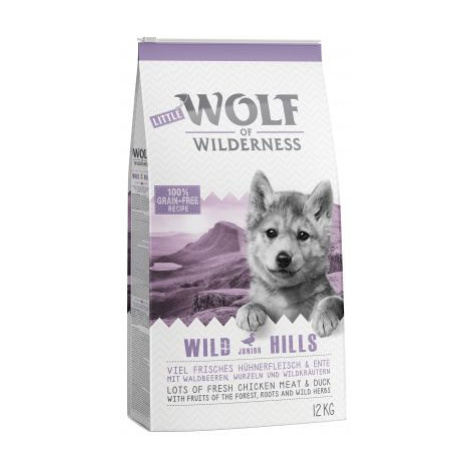 Little Wolf of Wilderness Junior - Wild Hills - kachna - Výhodné balení 2 x 12 kg