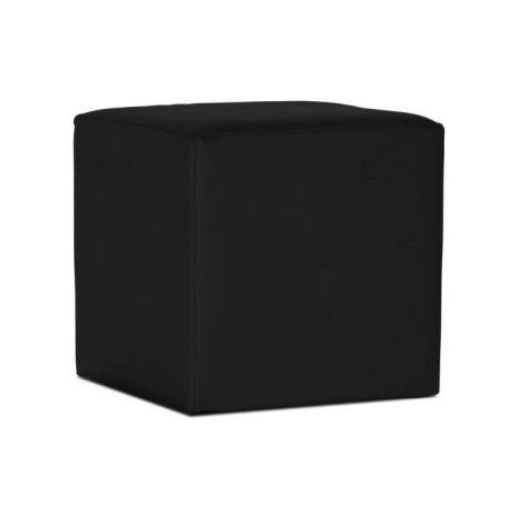 Taburet Cuby, černá ekokůže ASKO - NÁBYTEK