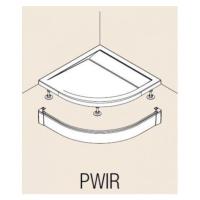 Hliníkový přední panel pro čtvrtkruhovou vaničku, Aluchrom PWIR5510050VYP