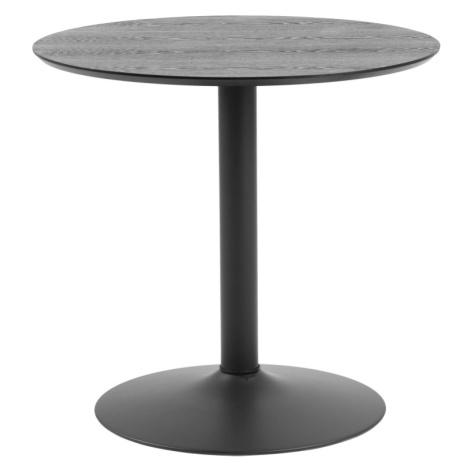 Dkton Kulatý barový stůl Neesha 80 cm černý