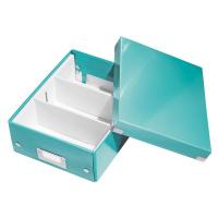 Tyrkysově modrý box s organizérem Leitz Office, délka 28 cm