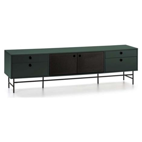 Černo-zelený televizní stolek Teulat Punto