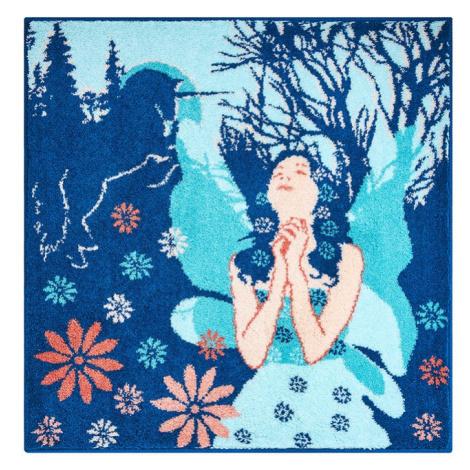 FAIRY - Koupelnová předložka 100x100 cm, modrá Grund