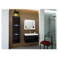 Ral Koupelnová stěna + umyvadlo Keli 3 - Černý lesk