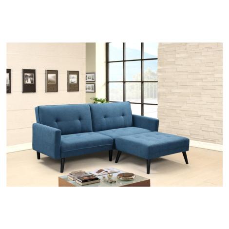 Halmar CORNER folding sofa with ottoman, color: blue