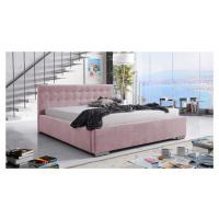 Eka Čalouněná postel Anastasia 90x200 cm Barva látky Trinity: (2319) Světlá růžová