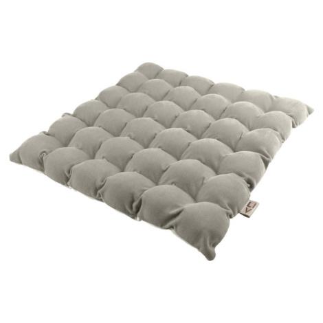 Světle šedý sedací polštářek s masážními míčky Linda Vrňáková Bubbles, 65 x 65 cm