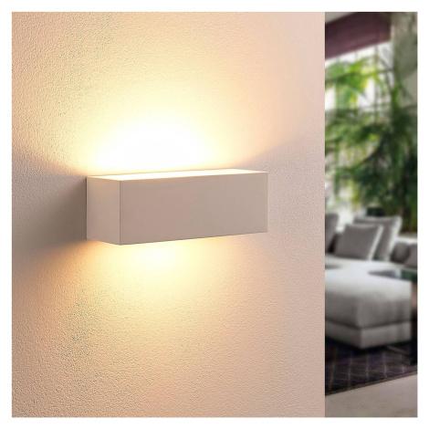 Lindby Hranatá nástěnná LED lampa Tjada ze sádry