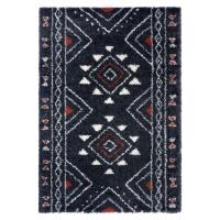 Černý koberec Mint Rugs Hurley, 80 x 150 cm