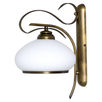 EULUNA Nástěnné světlo 493 opálová/zlatá antická, 1 zdroj