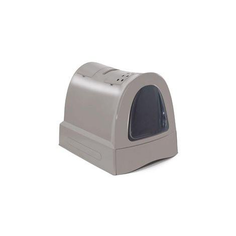 IMAC Krytý kočičí záchod s výsuvnou zásuvkou 40 × 56 × 42,5 cm šedý