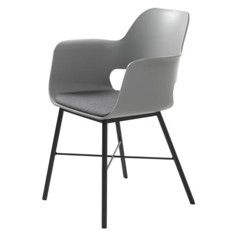 Furniria Designové křeslo Jeffery šedé