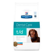 Hill's Prescription Diet t/d Mini Dental Care s kuřecím - Výhodné balení 2 x 3 kg