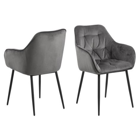 Dkton Designové židle Alarik tmavě šedá