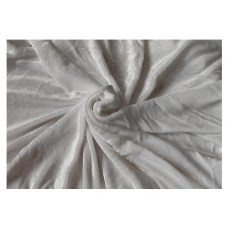 JAHU Mikroplyšové prostěradlo - bílé 90x200