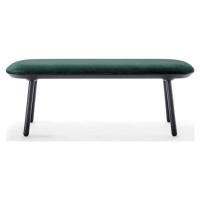 Zeleno-černá sametová lavice EMKO Naïve, 140 cm