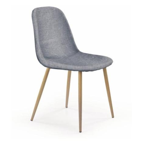 Halmar Jídelní židle K220, šedá/medový dub
