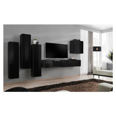 Obývací Stěna Switch III Černá BAUMAX