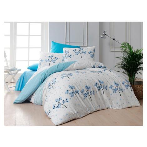 Bavlněné povlečení 240x220, 70x90 cm - Viola blue Brotex