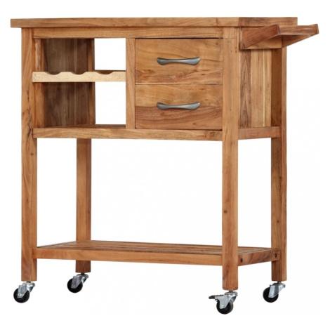 Kuchyňský vozík akáciové dřevo Dekorhome vidaXL