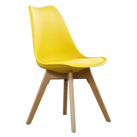 Jídelní židle CROSS II žlutá Casarredo