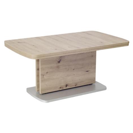 Venda KONFERENČNÍ STOLEK, barvy stříbra, barvy dubu, kompozitní dřevo, 110-180/63/53-72 cm