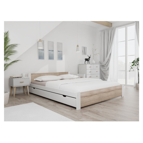 Maxi Drew Postel IKAROS 120 x 200 cm, bílá Rošt: S lamelovým roštem, Matrace: Matrace Coco Maxi  Maxi-drew