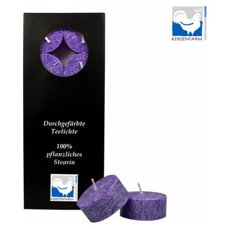 Kerzenfarm Čajové svíčky, Violett 10 ks