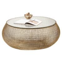 Konferenční stolek Cesta - zlatý