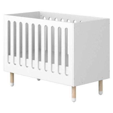 Bílá dětská postýlka Flexa Dots, 60 x 120 cm