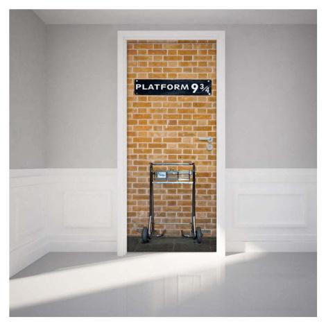 Adhezivní samolepka na dveře Ambiance Harry Potter Platform, 83 x 204 cm