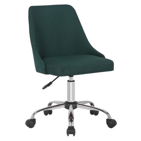 Kancelářská židle, smaragdová/chrom, EDIZ